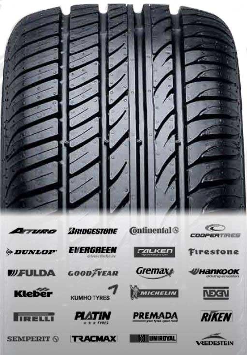 Ein Auszug unserer Reifenmarken