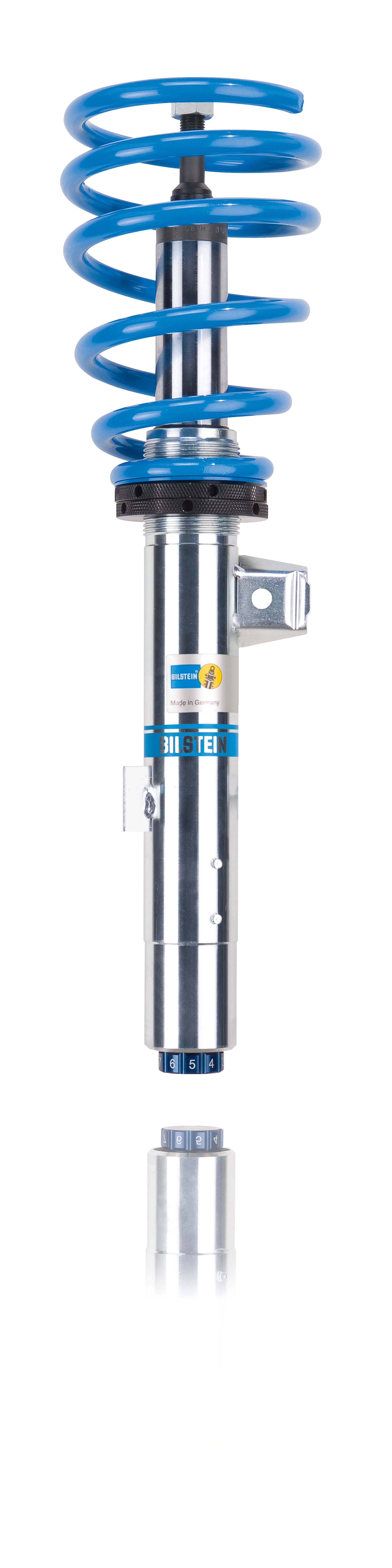 Die Einrohr-Gasdruck-Technologie des Gewindefahrwerks BILSTEIN B14 sorgt für erhöhte Spur- und Bremsstabilität.